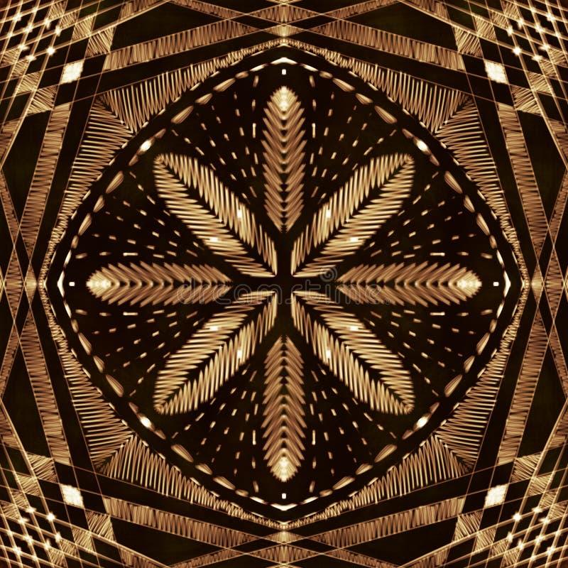 Goldstickerei mit Arabesken lizenzfreie abbildung
