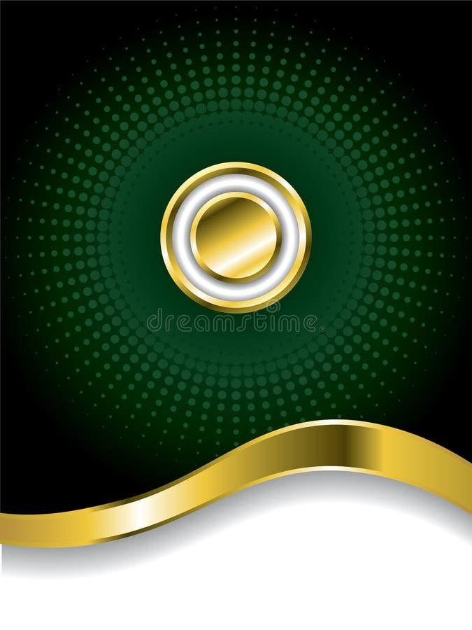 Goldtaste mit Halbtonbild lizenzfreie abbildung