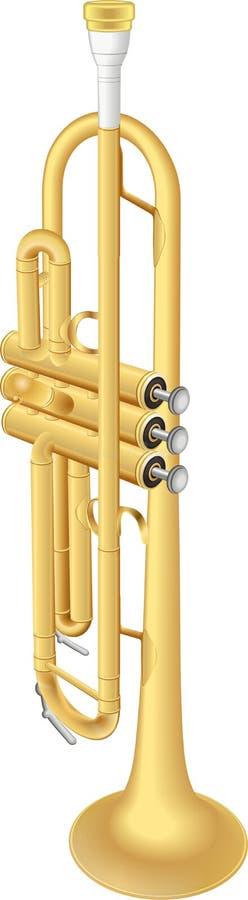 Goldtrompete stock abbildung