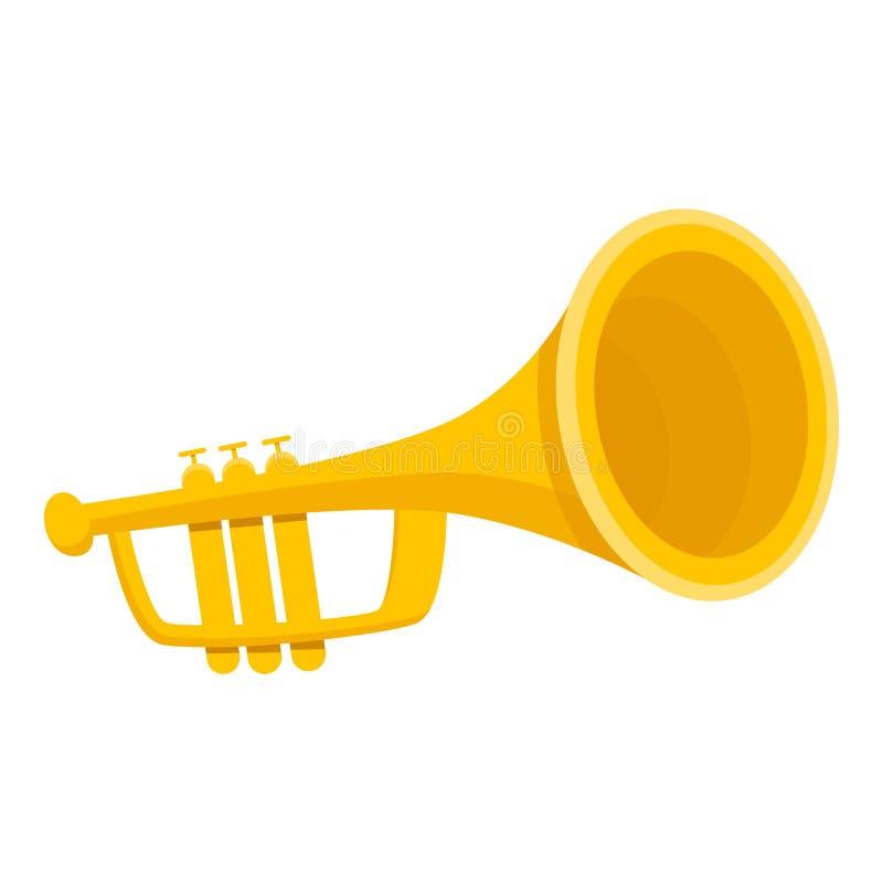 Goldtrompetenikone, Karikaturart lizenzfreie abbildung