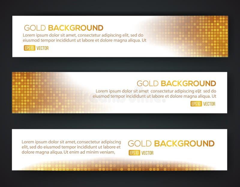 Goldverkaufs-Fahnensatz stock abbildung