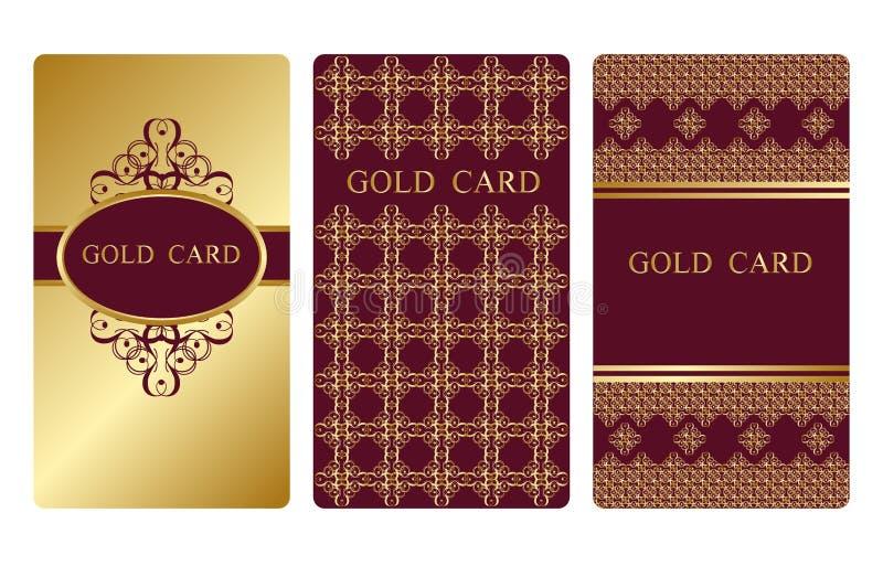 Goldvisitenkarten lizenzfreie abbildung