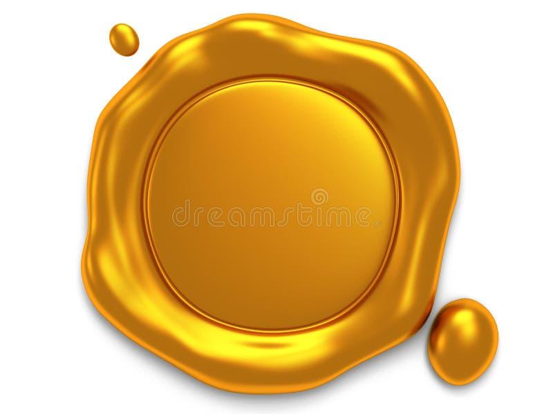 Goldwachssiegel mit Raum für Text lizenzfreie abbildung