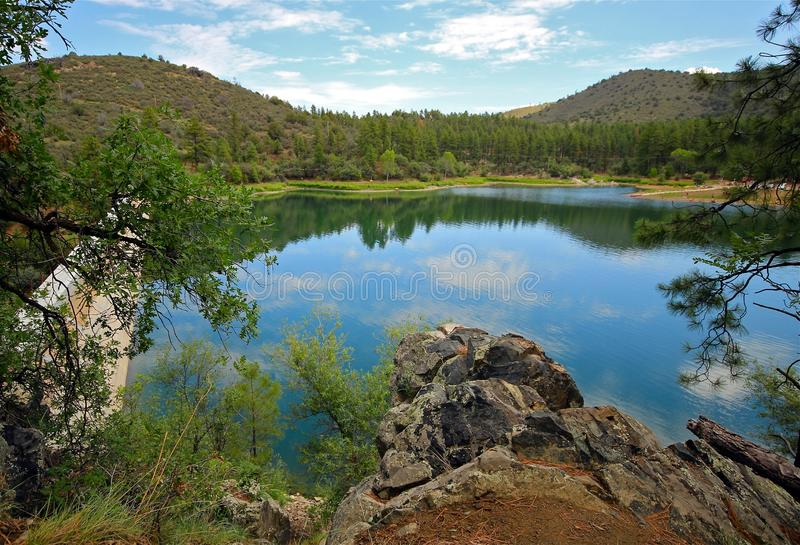 Goldwater Lake, Prescott, AZ stock image
