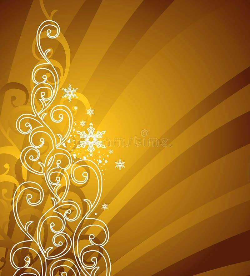 Goldweihnachtshintergrund/-vektor vektor abbildung