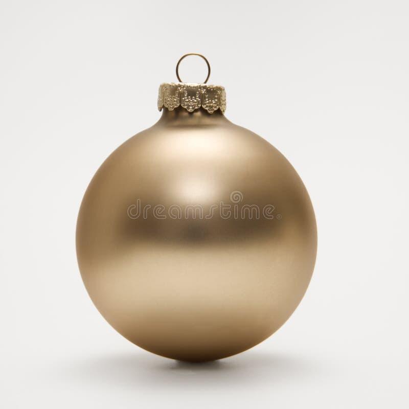 Goldweihnachtsverzierung. lizenzfreies stockfoto