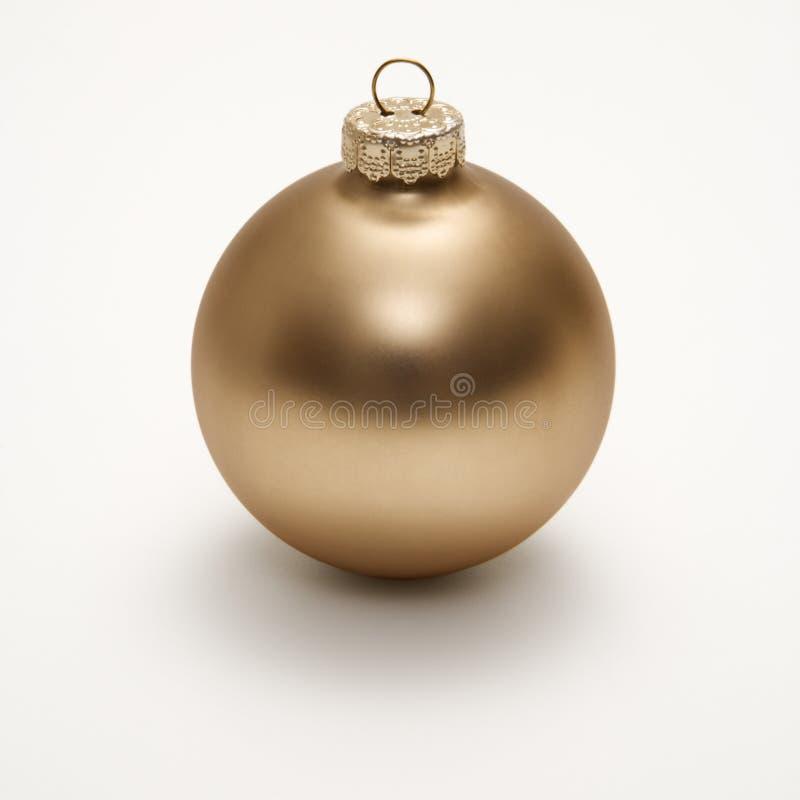 Goldweihnachtsverzierung. lizenzfreie stockfotografie