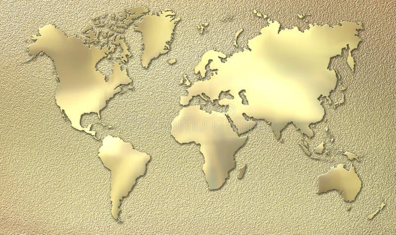 Goldwelt stock abbildung