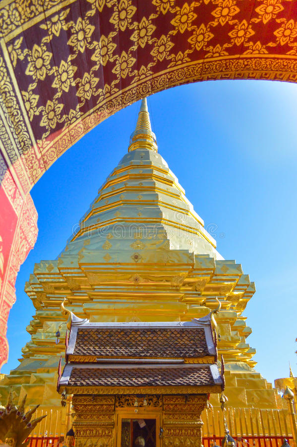 Gole pagoda royalty free stock photo