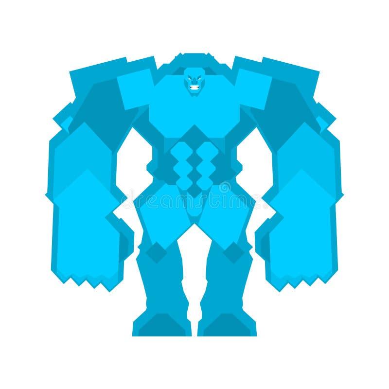 Golem Ice isolated. Fantastic Magic Big Monster.  royalty free illustration