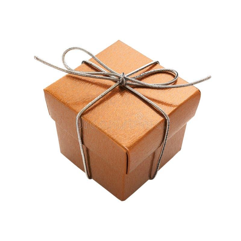 Golen礼物盒 库存照片
