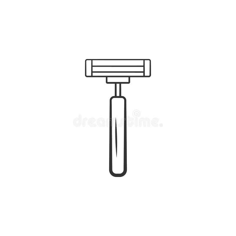 Golenie żyletki ikona Element kobiety makeup ikona dla mobilnych pojęcia i sieci apps Szczegółowa golenie żyletki ikona może używ ilustracja wektor