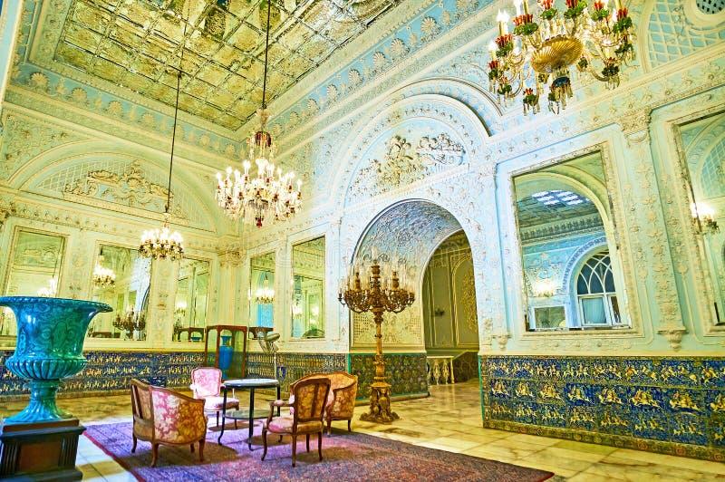 Golestan宫殿,德黑兰辉煌  免版税库存照片