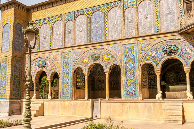 Golestan pałac - Teheran obraz royalty free