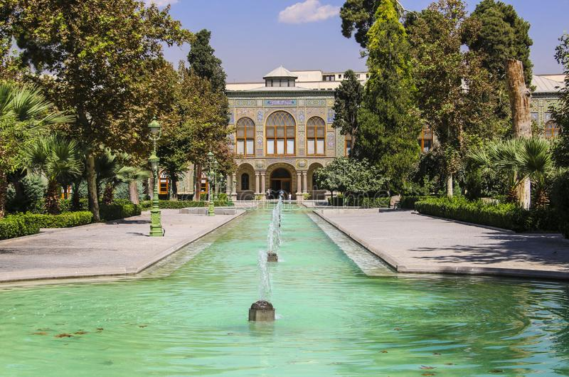 Golestan Palace, a UNESCO Heritage Site in Tehran, Iran stock photography