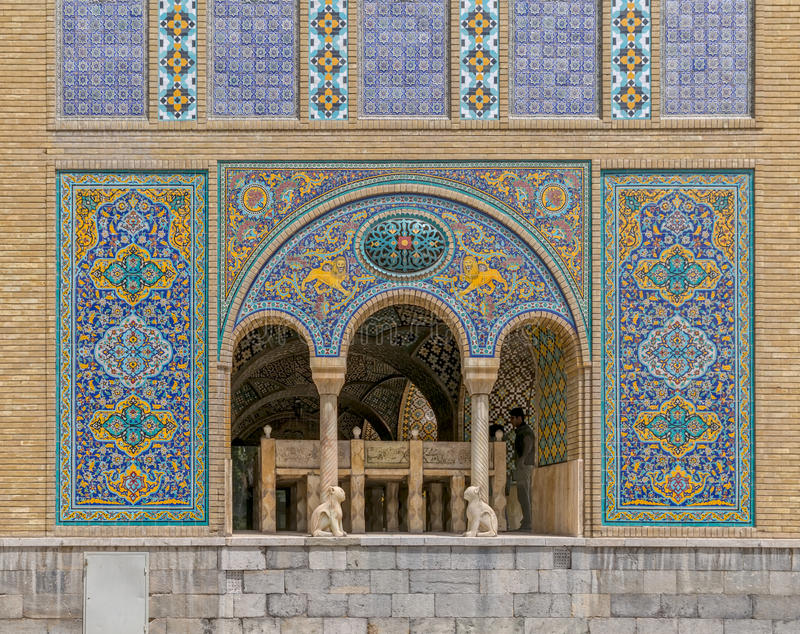 Golestan Zand的卡里姆汗宫殿大厦  免版税库存照片