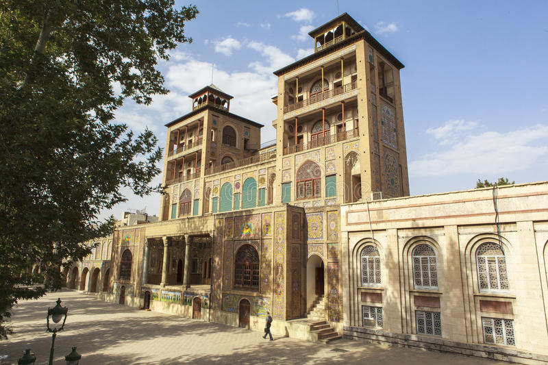 Golestanpaleis in Teheran, Iran royalty-vrije stock foto's