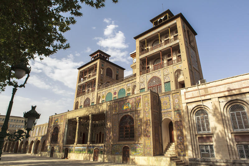 Golestanpaleis in Teheran, Iran royalty-vrije stock afbeelding