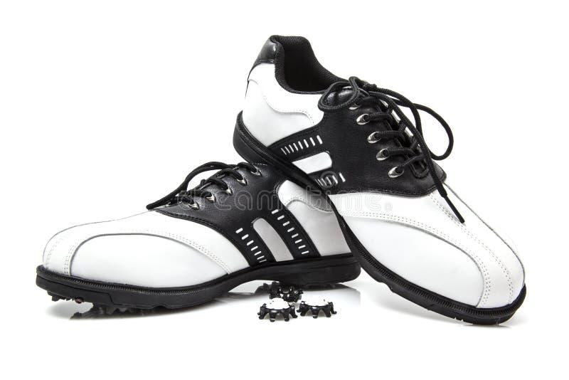 Golfów buty z dodatkowymi kolcami zdjęcia stock