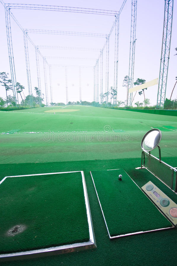 golfövningsskytte royaltyfri fotografi