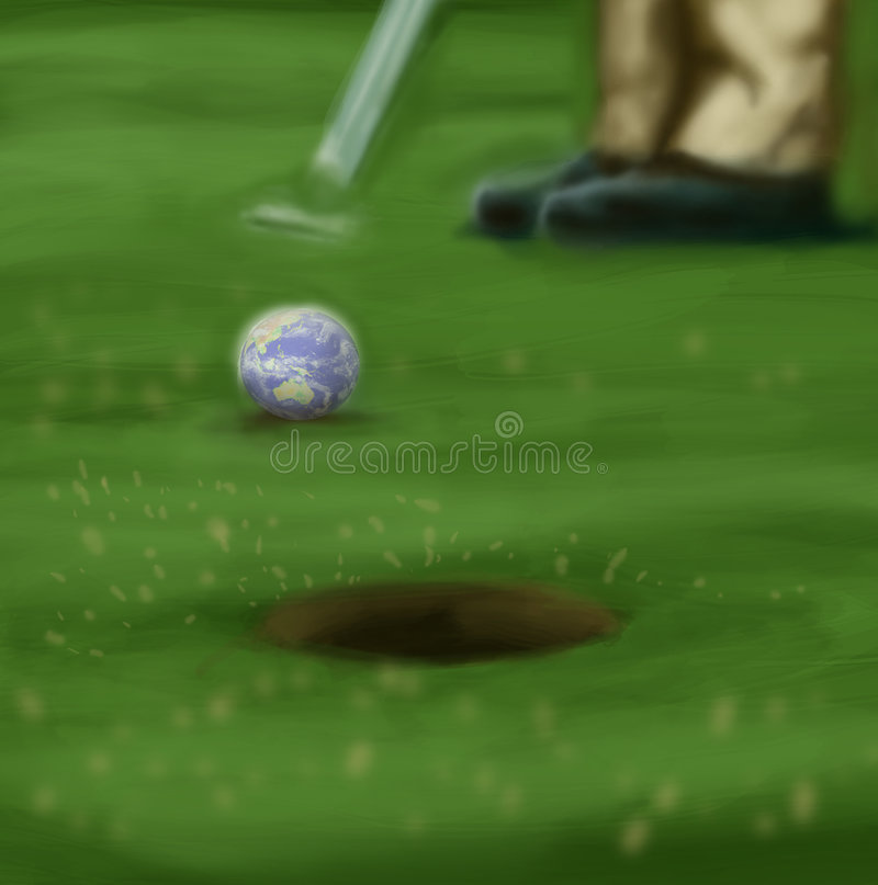 golf świat obraz stock