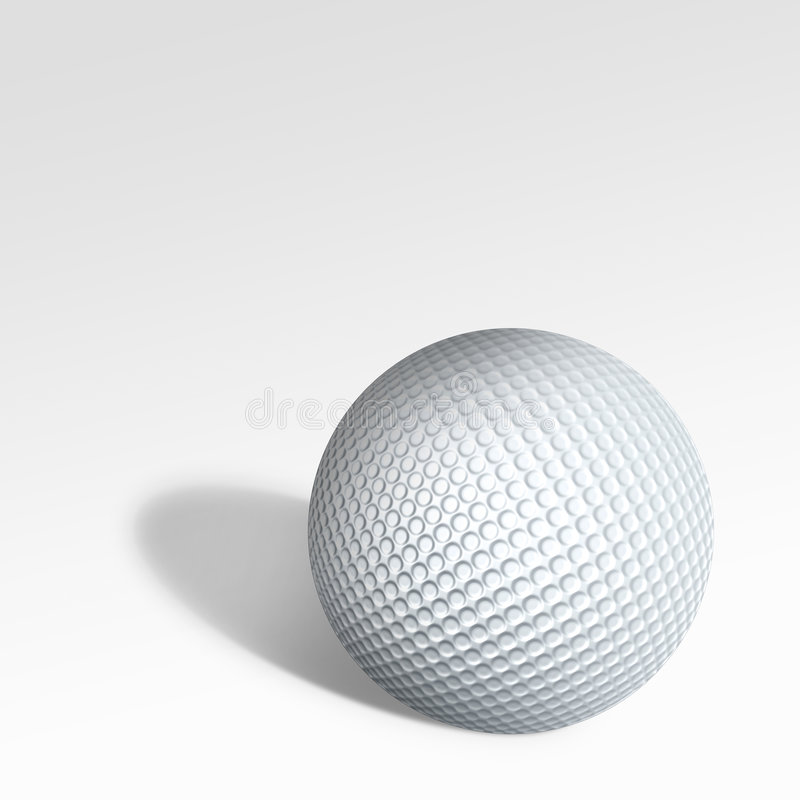Golf. Dotted 3d model golf ball vector illustration