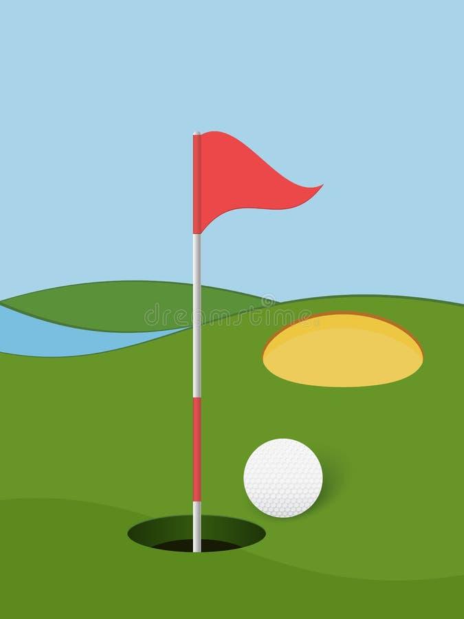 Golf 8 royalty-vrije illustratie