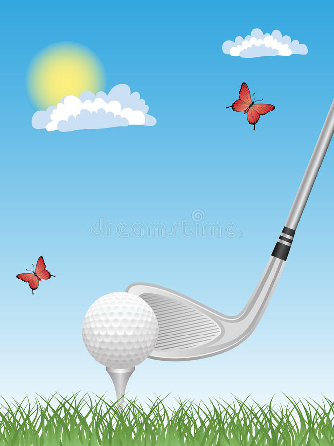 Download Golf stock vector. Illustration of course, pattern, decoration - 14696681