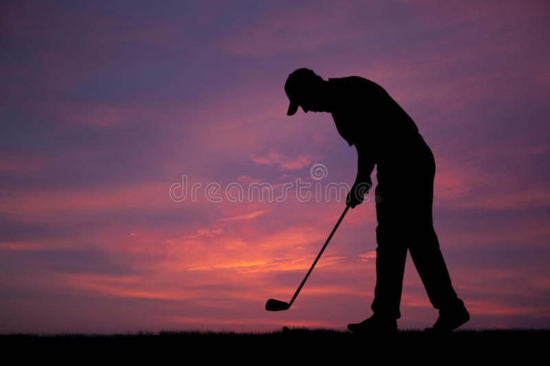 Download Golf stock photo. Image of people, course, land, sunset - 18252522