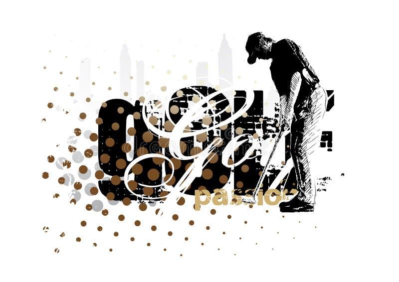Golf 2 royalty free illustration