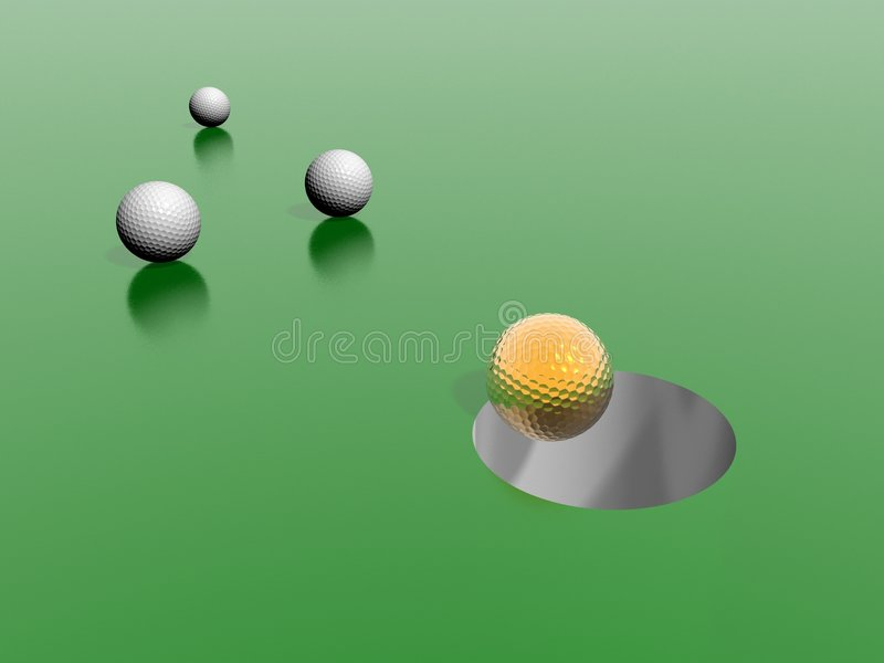 Golf royalty free illustration