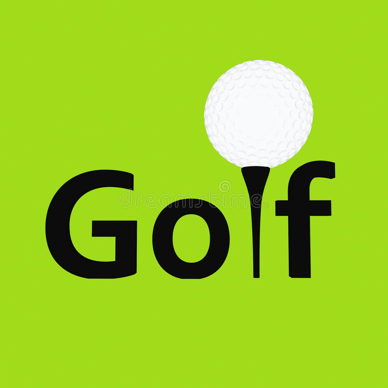 Download Golf stock illustration. Image of ball, hole, club, golfer - 26339111