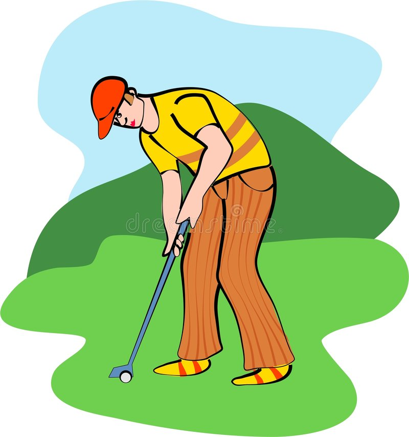 golf royaltyfri illustrationer