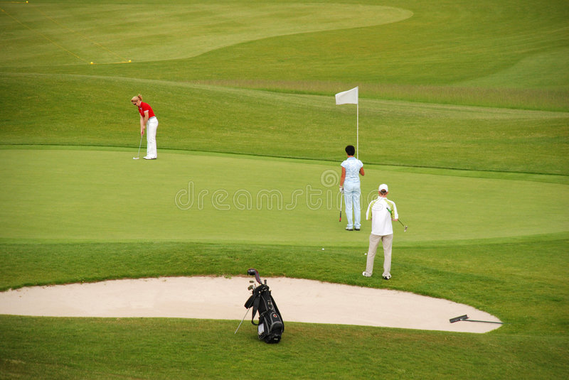 Golf. Players in The Czech Republic stock photography