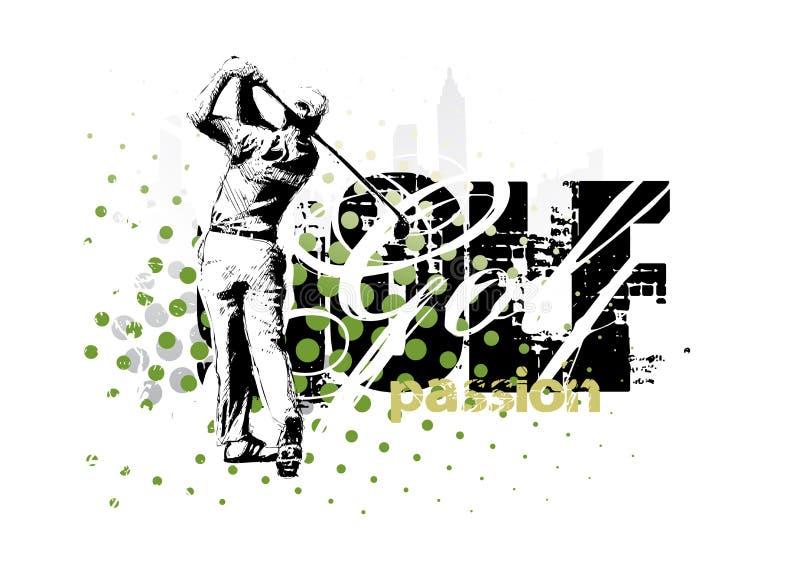 Golf 3 royalty free illustration