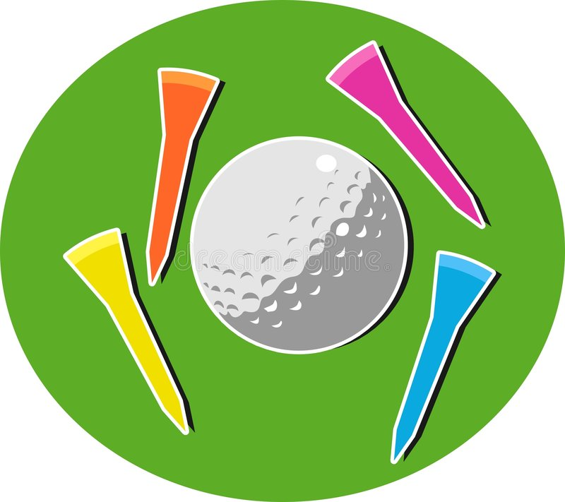 Download Golf vektor illustrationer. Illustration av objekt, lekar - 43771