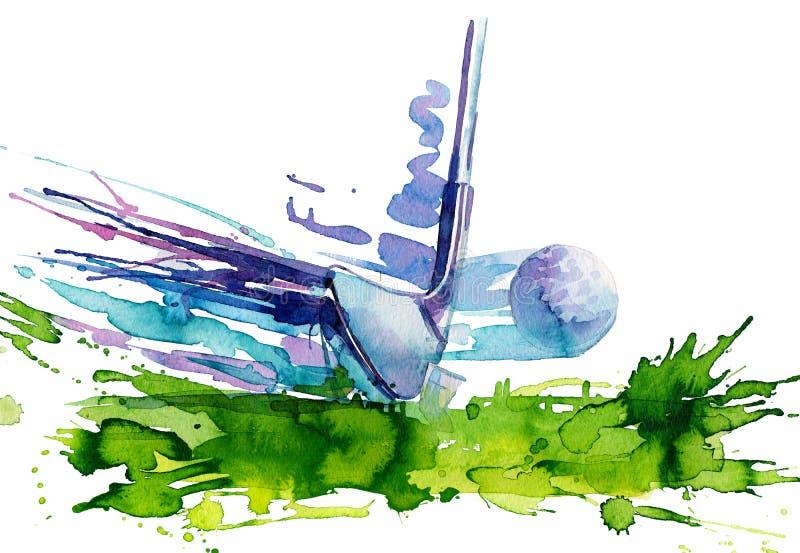 Golf illustration stock