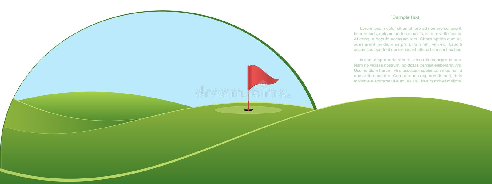 Golf illustration libre de droits