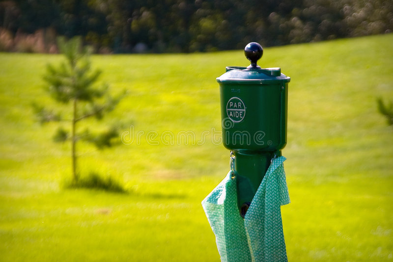 Golf. Equipment to clean the golf ball royalty free stock photos