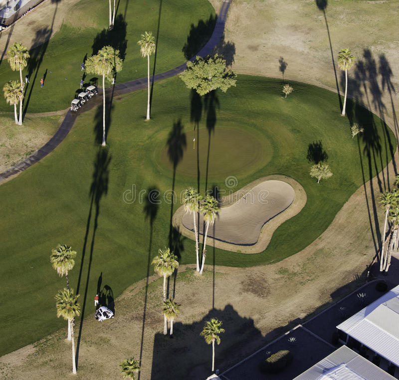 Golf aéreo imagen de archivo