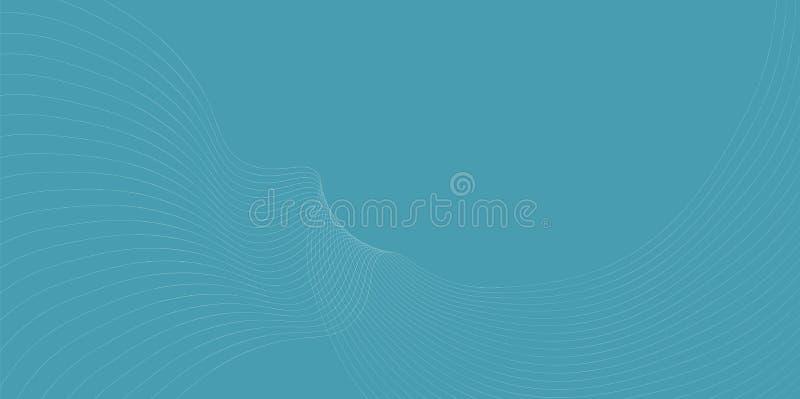 Golf abstracte achtergrond voor productkrantekop royalty-vrije illustratie