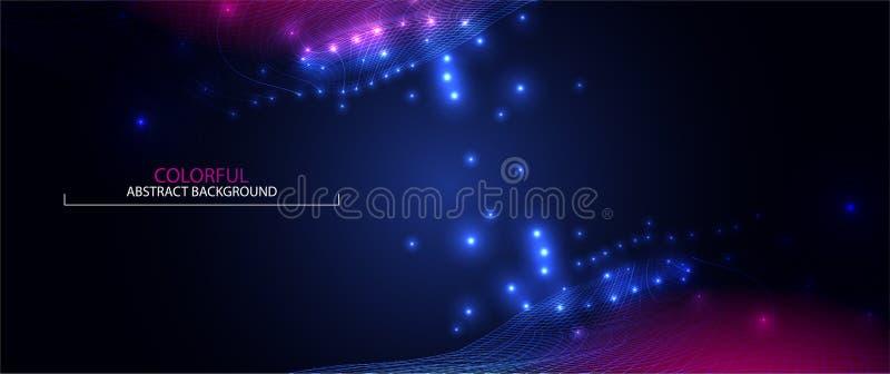 Golf Abstracte Kleurrijke Achtergrond 3d Net Grote Gegevens futuristisch vector illustratie