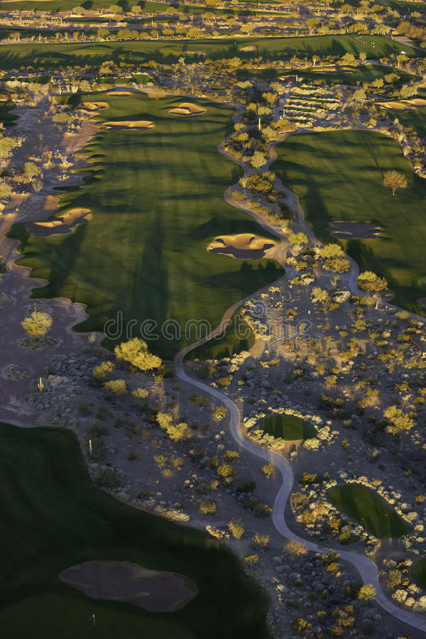Golf aereo fotografia stock libera da diritti