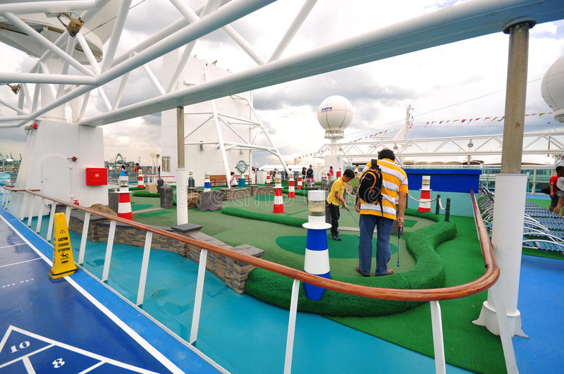 Download Golf Area On 'The Legend Of The Seas' Editorial Stock Photo - Image: 17372988