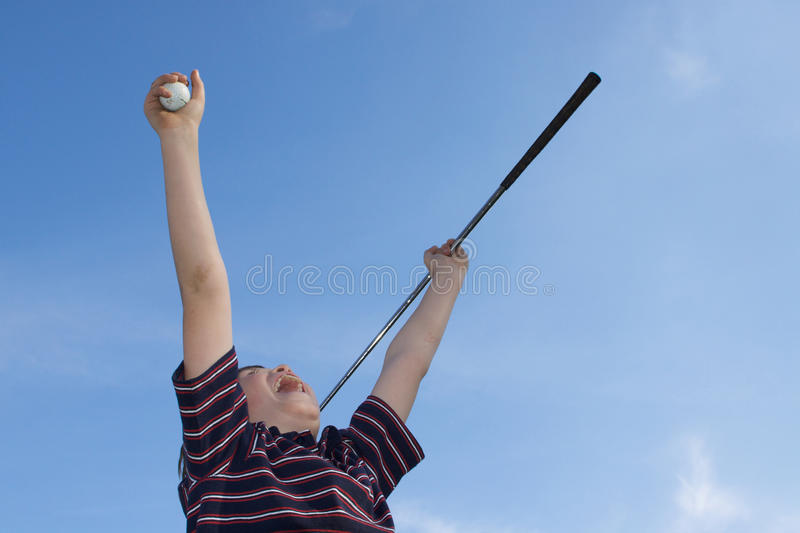 golf att segra royaltyfria bilder