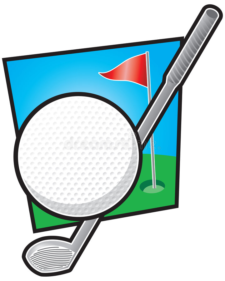 Golf-Ausrüstung lizenzfreie abbildung