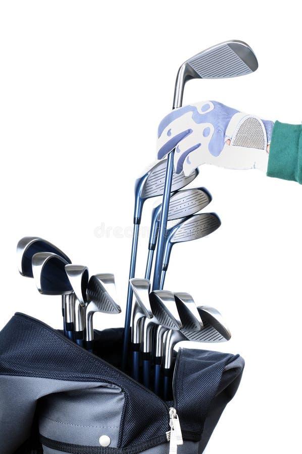 Golf-Ausrüstungen lizenzfreie stockfotos