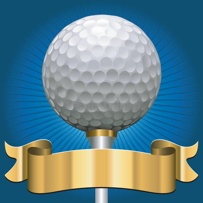 Download Golf award stock vector. Illustration of gold, presentation - 27165289