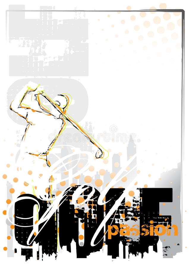 Golf background royalty free illustration