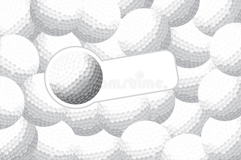 Golf background. Golf vector illustration (some balls with place for text royalty free illustration